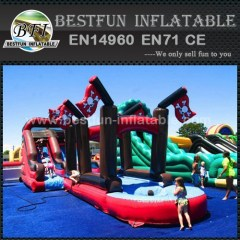 Playful inflatable pirate ship