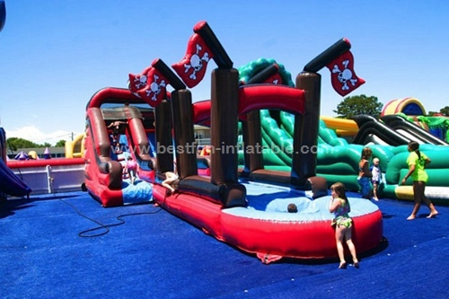 Pirate Ship Bounce House And Inflatable Water Slide