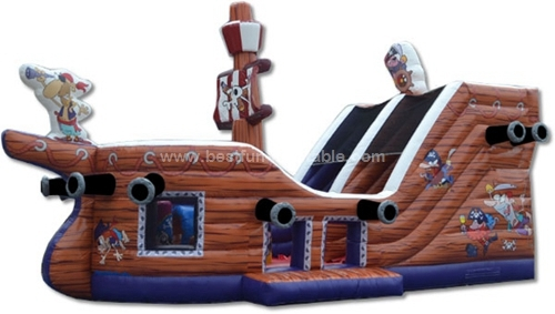 Promotional Giant Inflatable Pirate Ship Slide