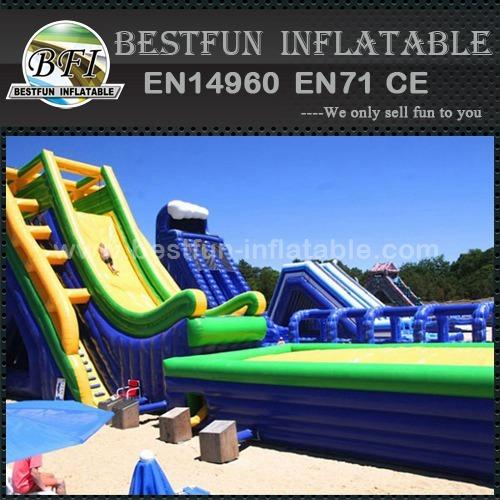 Giant Inflatable Drop Kick Water Slide