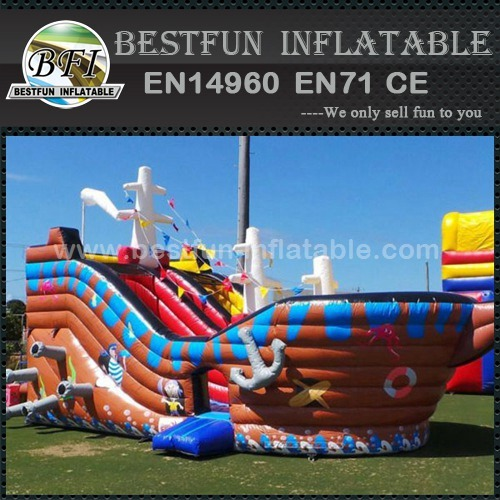Pirate ship inflatable slides for adults