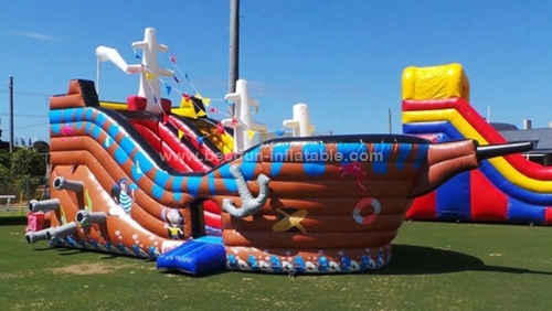 Ship Inflatable corsair Slide in Commercial Use