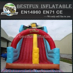 The Simpsons Inflatable Dry Slide