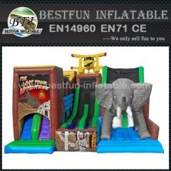 Jungle Adventure Inflatable Slide