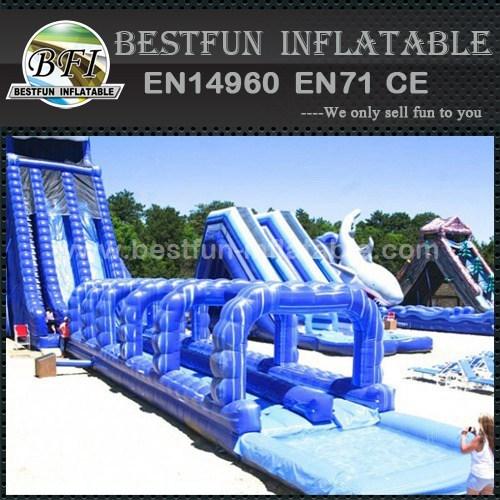 Amusement park giant inflatable slide