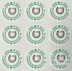 High Quality Custom Breakable Security Seal Sticker Anti-fake Tamper Evident Warranty Void If Removed Sticker