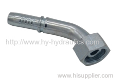 Hydraulic fittings 45 degree female 60 degree cone
