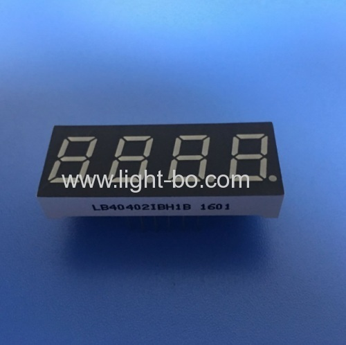 Ultra blue 4 digit 0.4inch 7 segment led display common anode for home appliances