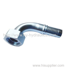 90 degree metric female flat seat hydrulic fitting 20291