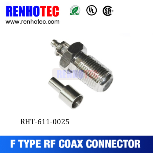 RF coaxial wire connectors straight f female connector cable f connector