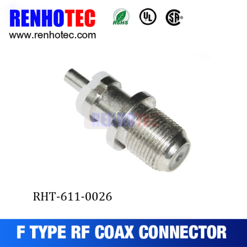bulkhead crimp jack female coaxial f wire connectors types f connector
