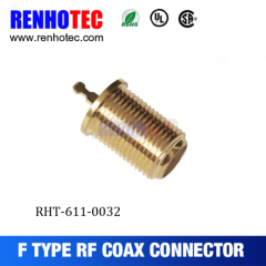 straight f connector coaxial cable f connector gold-plating plug f connector