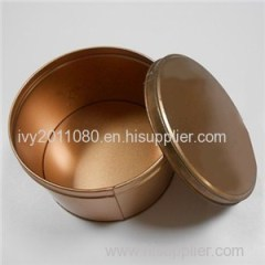 Round Tin Cookie Box