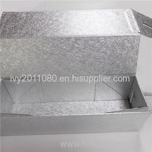 Texture Paper Wine Box With Handle