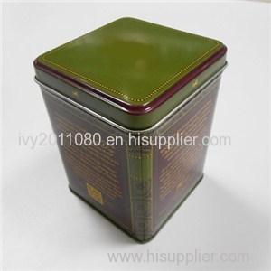 Tin Tea Storage Box