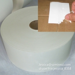 Factory Supply Custom Destructible Vinyl Security Label Paper Blank Breakable Eggshell Sticker Paper Materials In Roll