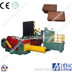 High efficiency metal shavings scrap press baler