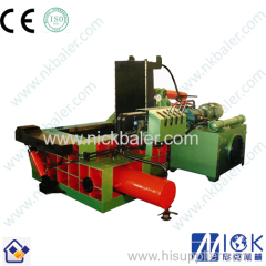 Hydraulic horizontal scrap metal briquetting press