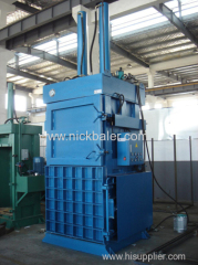 Two door open corrugated paper baling press machine