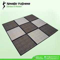 9 blocks bamboo patchwork carpet
