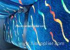 Vintage Blue Classic Car Seat Upholstery Fabric Printed Bonding