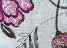 80% Viscose Floral Embroidered Curtain Fabric for Home Decor