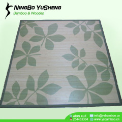 Fashion printing design bamboo inner carpet