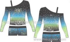 Free design custom cheer costumes sexy sparkle rhinestone cheerleading uniforms all star cheerleader wear