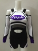 Most sexy new design sparkle bling bling cheerleader uniforms metallic fabric bright hot style china manufacturer