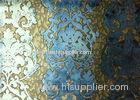 Cushion Jacquard Woven Fabric Velvet Hand Painted Floral Pattern
