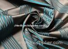 High End Upholstery Striped Jacquard Silk Fabric Blackout For Drapery