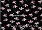 Pattern Printed Black Velvet Fabric High Density Weave Customeized