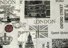 250GSM Jacquard Woven Fabric / London City Pattern Jacquard Fabric
