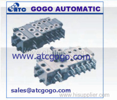 D8 type multiple directional control valve