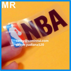 Custom order self adhesive transparent destructible security tamper evident sticker labels