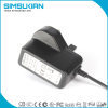 UK plug wall mount 5v 1a 2a ac dc power adapter with CE GS certifications