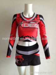 Red printing Hot style Free custom cheerleader competition cheerleading costumes wholesale price