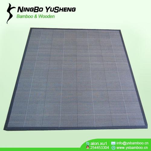 woven design bamboo room carpet