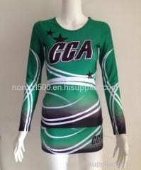 Green hot top all star cheerleading long top and skirts cheerleading uniform cheerleader sexy costumes