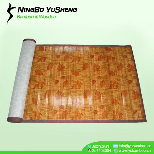 17mm bamboo slat with printing and painting bamboo mat