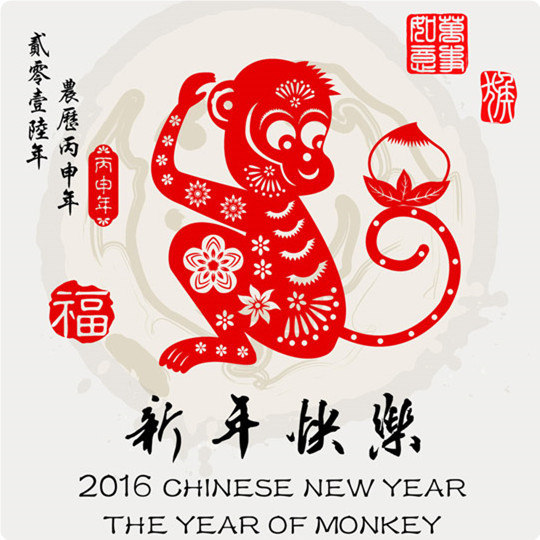 Happy the year of Monkey