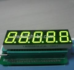 "Super bright green common cathode 0.56"" 5 digit 7 segment led display for process control"