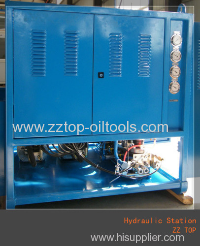 Hydraulic station for disc brake system