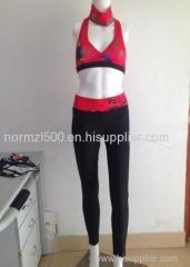 OEM printing your design yoga sports bra and yoga pants sexy gym sports buildling wear