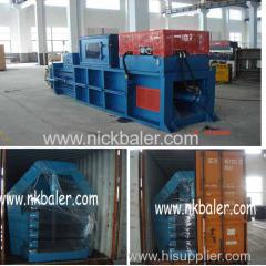 using artificial feeding Waste paper bales press banding machine