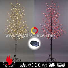 Color changing frosted ball led tree lights with controller