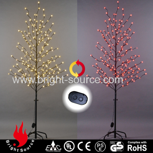 Led tree lights with color changing frosted balls