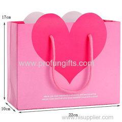 NEW design Heart shape gift shopping bag
