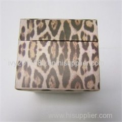Leapard Print Leather Jewelry Box