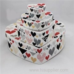 Heart Shaped Paper Box Set